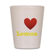 I Love Lemon Shot Glass