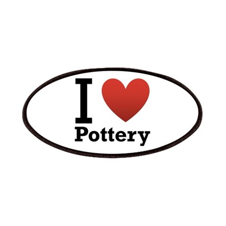 I Love Pottery Patches
