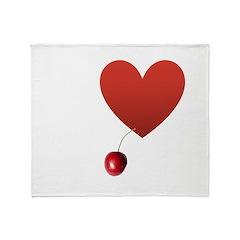 I Love Cherry Throw Blanket