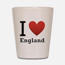 I Love England Shot Glass