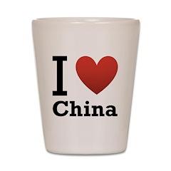 I Love China Shot Glass