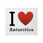 I Love Antarctica Throw Blanket