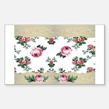 Rose Border Rectangle Decal