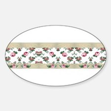 Rose Border Oval Decal