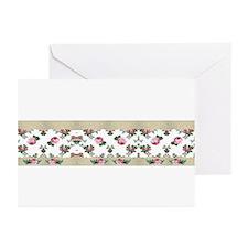 Rose Border Greeting Cards (Pk of 10)