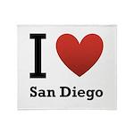I Love San Diego Throw Blanket