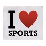 I Love Sports Throw Blanket