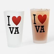 I Love Virginia Drinking Glass