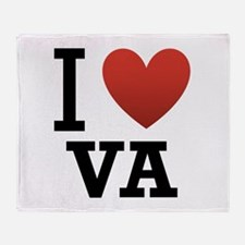 I Love Virginia Throw Blanket