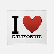 I Love California Throw Blanket