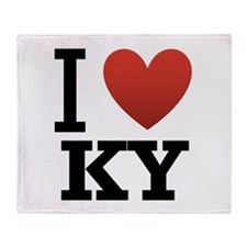 I Love KY Throw Blanket
