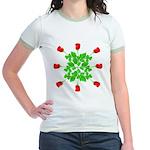 Circle of Roses Jr. Ringer T-Shirt