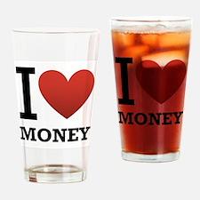 I <3 Money Drinking Glass