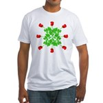 Circle of Roses Fitted T-Shirt