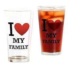 I <3 My Family Drinking Glass