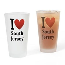 I <3 South Jersey Drinking Glass