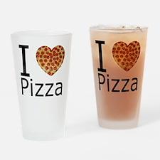 I Heart Pizza Drinking Glass