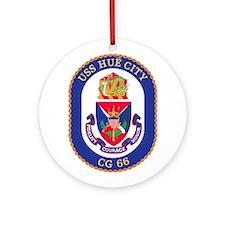 USS Hue City CG 66 Ornament (Round)