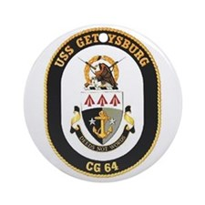 USS Gettysburg CG 64 Ornament (Round)