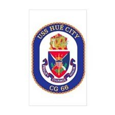 USS Hue City CG 66 Rectangle Decal