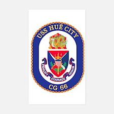 USS Hue City CG 66 Rectangle Decal