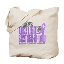 I Wear Violet 6 Hodgkin's Lymphoma Tote Bag