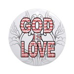 God Is Love Ornament (Round)