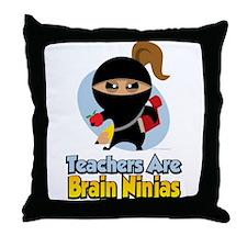 Teachers Are Brain Ninjas Throw Pillow