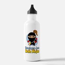 Teachers Are Brain Ninjas Water Bottle
