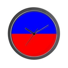 50/50 Red & Blue Wall Clock