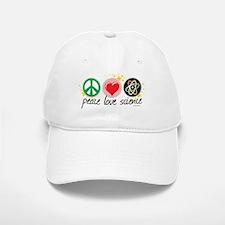 Peace Love Science Baseball Baseball Cap