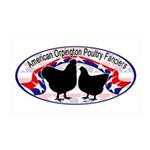 American Orpington Club Logo 38.5 x 24.5 Wall Peel