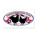 American Orpington Club Logo 22x14 Wall Peel