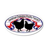 American Orpington Club Logo 38.5 x 24.5 Oval Wall