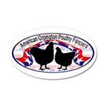 American Orpington Club Logo 22x14 Oval Wall Peel