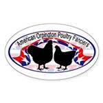 American Orpington Club Logo Sticker (Oval 10 pk)