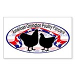 American Orpington Club Logo Sticker (Rectangle)