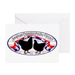 American Orpington Club Logo Greeting Cards (Pk of