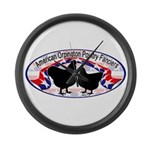 American Orpington Club Logo Large Wall Clock