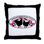 American Orpington Club Logo Throw Pillow