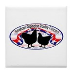 American Orpington Club Logo Tile Coaster