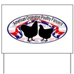 American Orpington Club Logo Yard Sign
