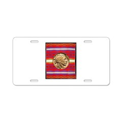 Indian Design-02a Aluminum License Plate