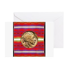 Indian Design-02a Greeting Cards (Pk of 10)