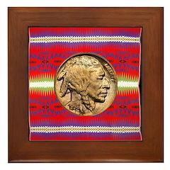 Indian Design-02a Framed Tile