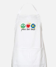 Peace Love Teach Apron