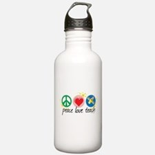 Peace Love Teach Sports Water Bottle
