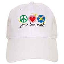 Peace Love Teach Baseball Cap