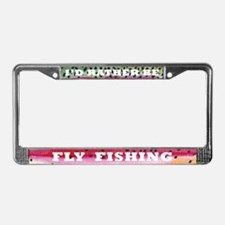 Rainbow Trout Fly FIshing License Plate Frame