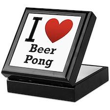 I Love Beer Pong Keepsake Box